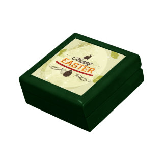 Verde feliz de Pascua Caja De Joyas