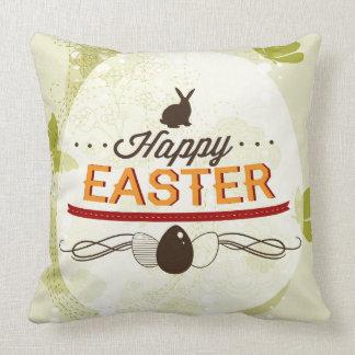 Verde feliz de Pascua Cojín