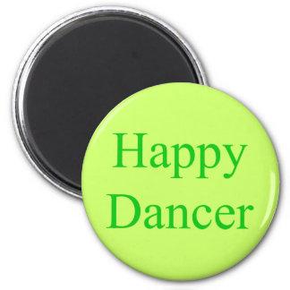 Verde feliz del bailarín imán para frigorifico