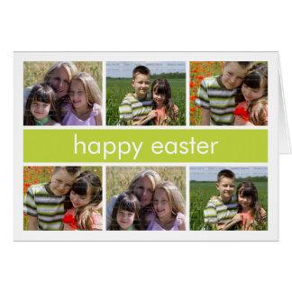 Verde feliz del collage de la foto de Pascua perso Felicitación