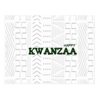 Verde feliz moderno de Kwanzaa Postal