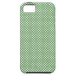 Verde femenino lindo de los lunares iPhone 5 fundas