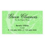 Verde flamenco de la tarjeta de visita