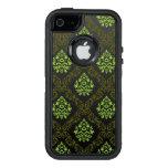 Verde floral del papel pintado funda otterbox para iPhone 5/5s/SE