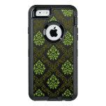 Verde floral del papel pintado funda otterbox para iPhone 6/6s