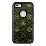 Verde floral del papel pintado funda otterbox para iPhone 6/6s plus