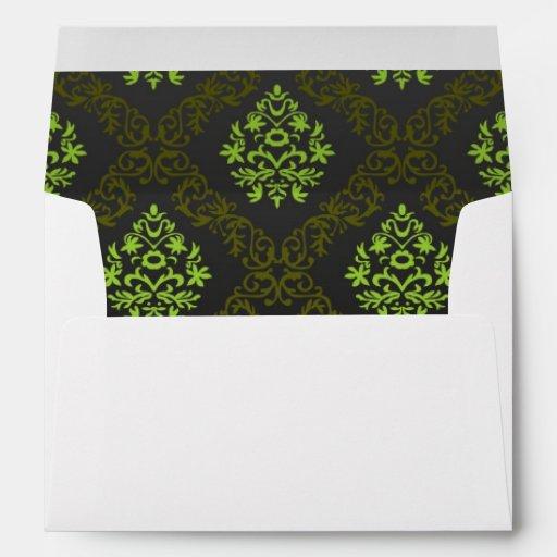Verde floral del papel pintado sobre