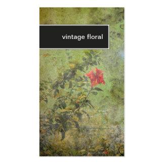 Verde floral del vintage elegante de la tarjeta de tarjeta de negocio