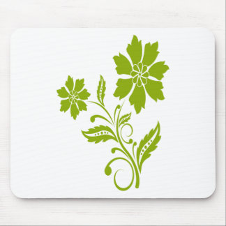 Verde flower mouse pad
