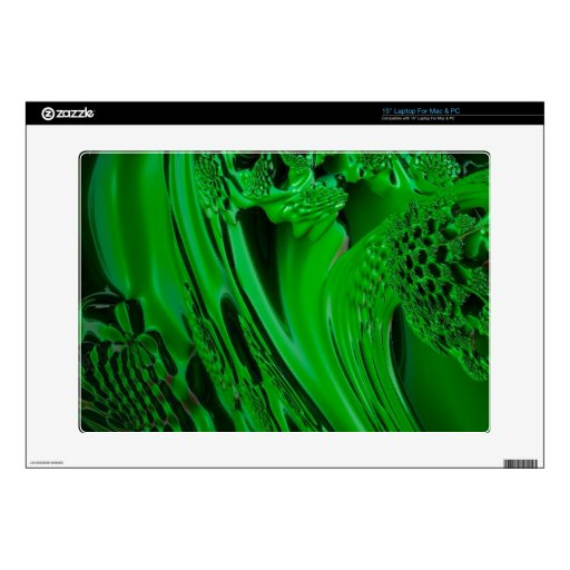 verde flúido de la sorpresa digital skins para 38,1cm portátil