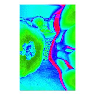 verde fluorescente de la fruta  papeleria de diseño