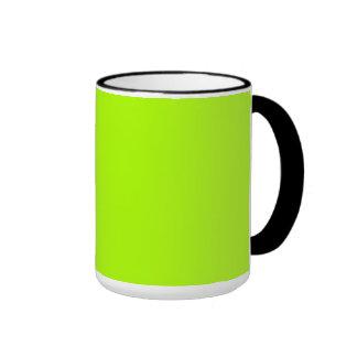 Verde fluorescente tazas de café