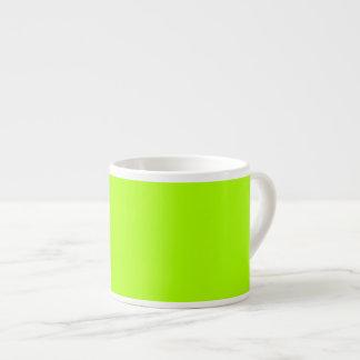 Verde fluorescente tazas espresso