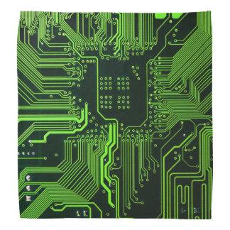 Verde fresco del ordenador de placa de circuito bandanas