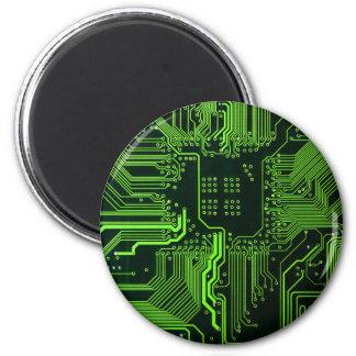 Verde fresco del ordenador de placa de circuito imanes de nevera