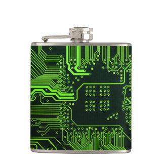 Verde fresco del ordenador de placa de circuito petaca