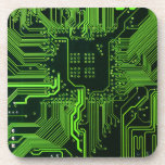 Verde fresco del ordenador de placa de circuito posavasos