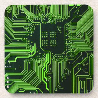 Verde fresco del ordenador de placa de circuito posavasos de bebidas