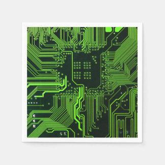 Verde fresco del ordenador de placa de circuito servilletas de papel
