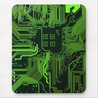 Verde fresco del ordenador de placa de circuito alfombrilla de ratón