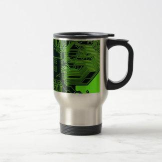 Verde fresco del ordenador de placa de circuito taza