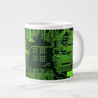 Verde fresco del ordenador de placa de circuito taza grande