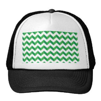 Verde fresco del zigzag de Chevron Gorros
