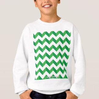 Verde fresco del zigzag de Chevron Sudadera