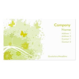 Verde fresco tarjetas de visita
