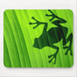 Verde frog mouse pad