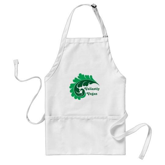 Verde frondoso del vegano delantal