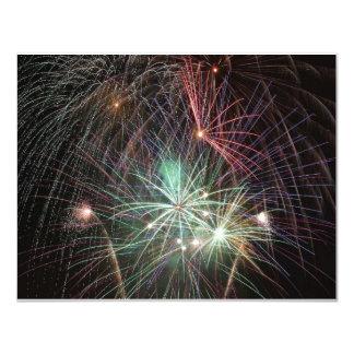 """verde-fuego-en-noche invitación 4.25"""" x 5.5"""""""