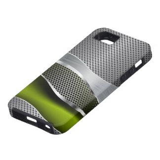 Verde futurista de alta tecnología del cromo y del funda para iPhone SE/5/5s