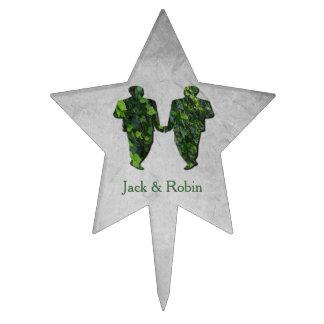 Verde gay de la hiedra de los hombres verdes y figura de tarta