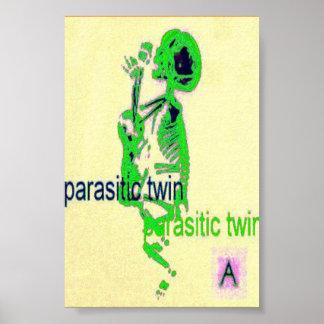 Verde gemelo parásito (del poster) póster