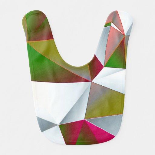 Verde geométrico 02 babero para bebé