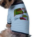 Verde geométrico 02 camisetas mascota