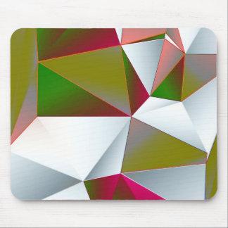 Verde geométrico 02 alfombrilla de ratón