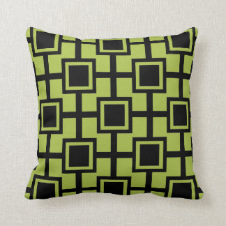 Verde geométrico de moda de la primavera de la cojín