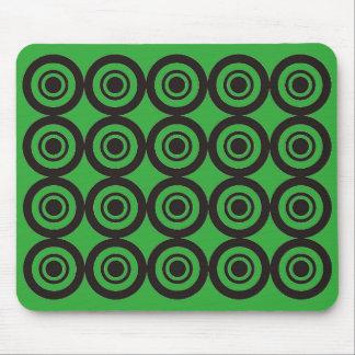 Verde geométrico de moda fresco del cojín de ratón alfombrillas de ratón