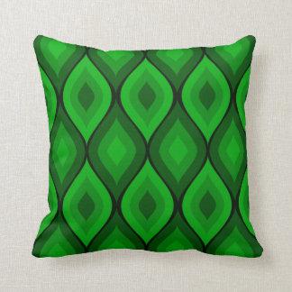 Verde geométrico oval Curvy del | Almohadas