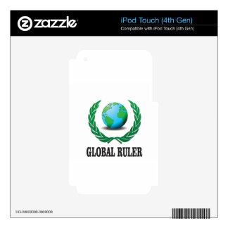 verde global de la regla calcomanías para iPod touch 4G
