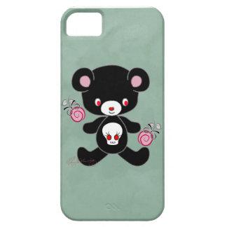 Verde gótico del oso de peluche iPhone 5 Case-Mate cobertura