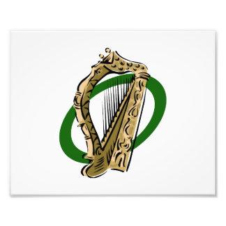Verde gráfico ring png de la arpa adornada impresiones fotograficas