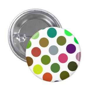 Verde grande y puntos de Brown Pin Redondo De 1 Pulgada