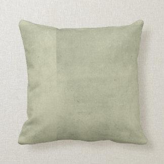 Verde gris apenado cojín