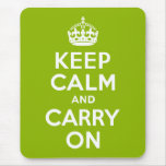 Verde guarde la calma y continúe tapete de raton
