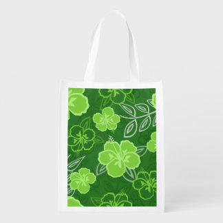 Verde hawaiano del modelo del hibisco bolsa para la compra