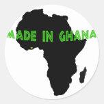Verde hecho en Ghana Etiqueta