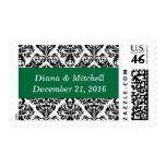 Verde hermoso del cadmio del damasco elegante de l sello